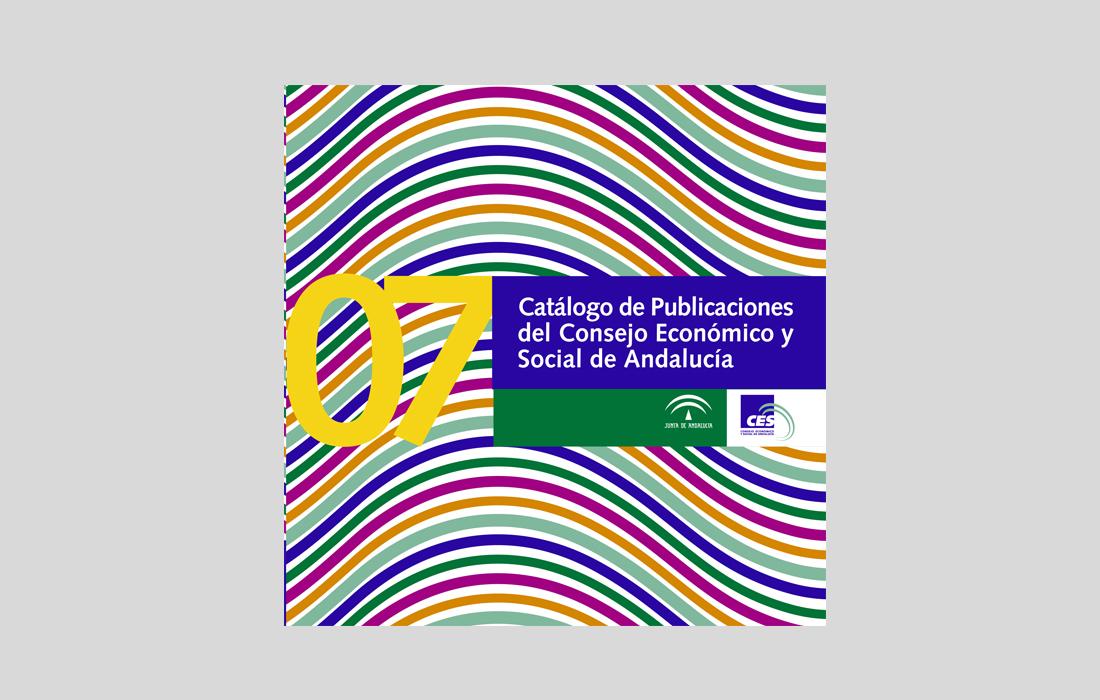 Diseño y Maquetación del catálogo de publicaciones 2007 del Consejo Económico y Social. Junta de Andalucía.