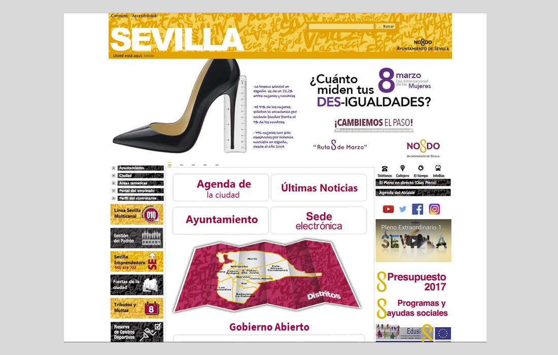 Banner web del Ayuntamiento de Sevilla