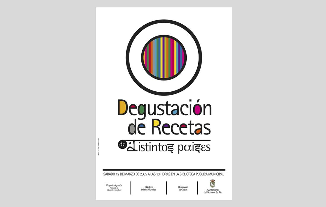 Cartel para la Jornada de Degustación de comida de otros países. Proyecto Algarada, Ayuntamiento de Palomares del Río