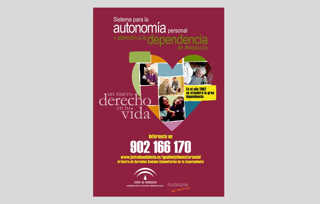 Cartel Campaña Ley de la dependencia. Junta de Andalucía