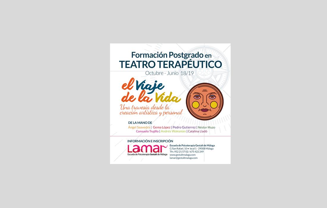 Adaptación para RRSS del Cartel Teatro Terapéutico Escuela Lamar