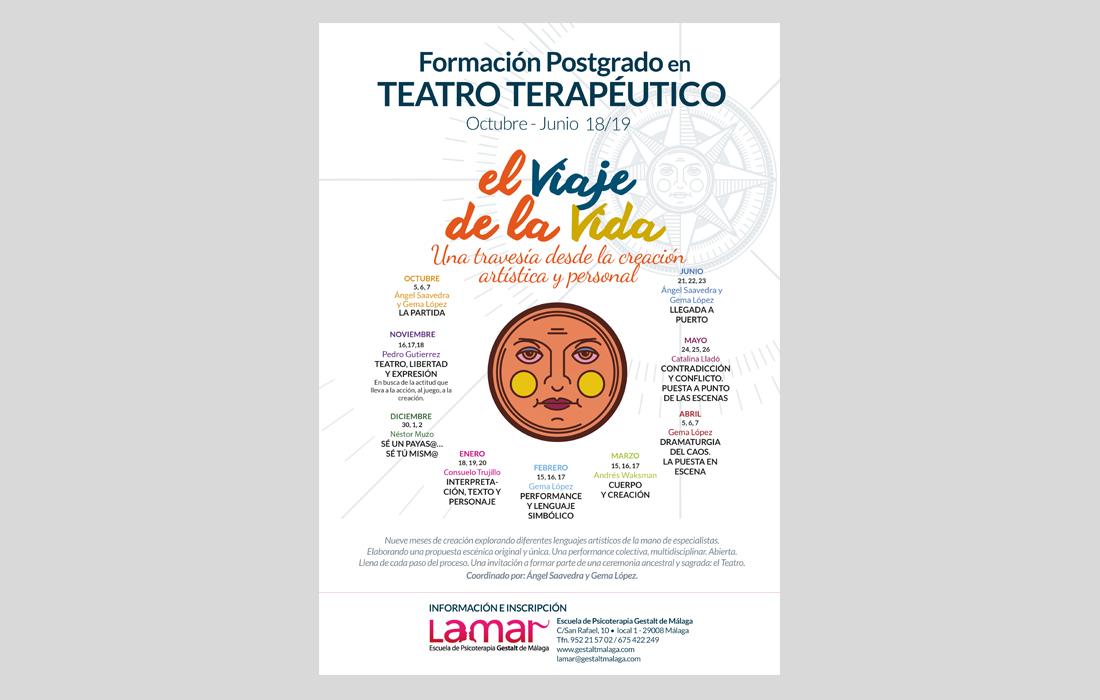 Cartel Teatro Terapéutico Escuela Lamar