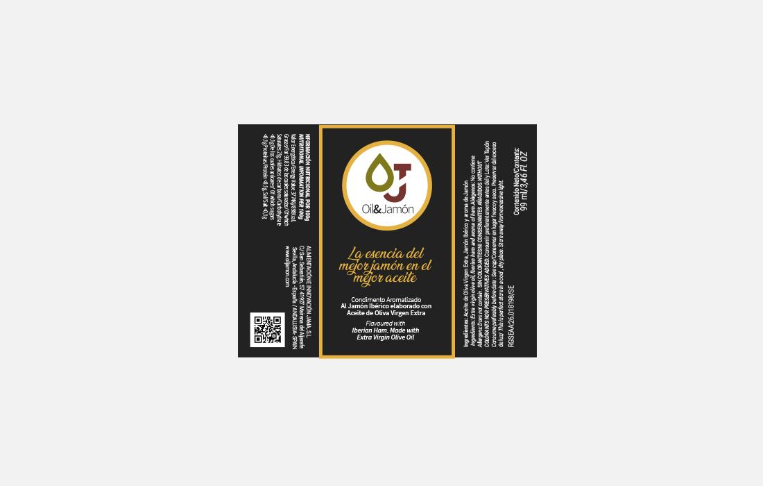 Etiqueta para Botella de Aceite 99 ml.