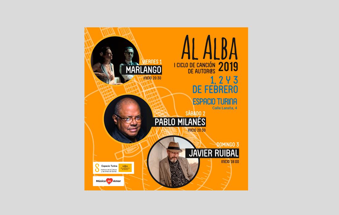 """Adaptación para RRSS  I Ciclo de Canción de Cantautor@s de Sevilla """"Al Alba"""""""
