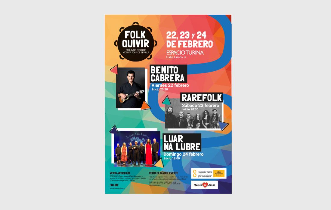 Diseño del Cartel para Folkquivir 2019. II Ciclo de Música Folk de Sevilla